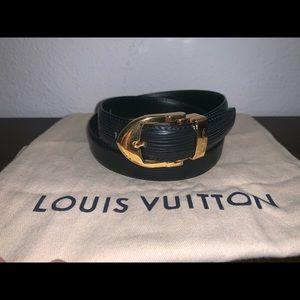 Authentic Louis Vuitton epi belt size 28 inches